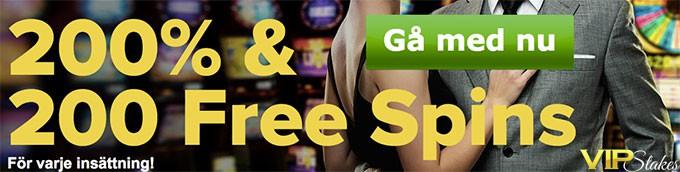 200 free spins bonus vip stakes