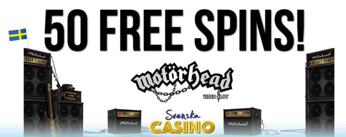 50 free spins motörhead slot