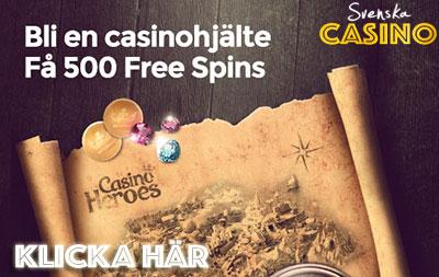 500 free spins svenska casino heroes