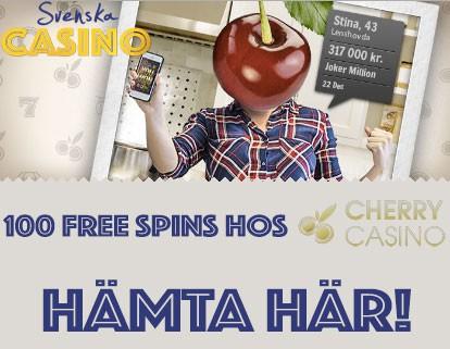 100 free spins cherrycasino bonus