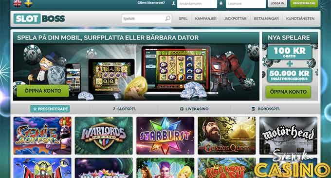 slotboss svenska casino bonus free spins