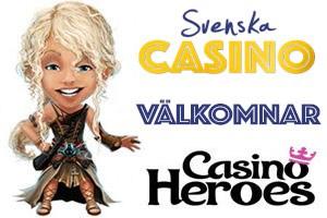 casino heroes välkomnas av svenska casino på nätet