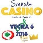 vecka 6 svenska casino på nätet