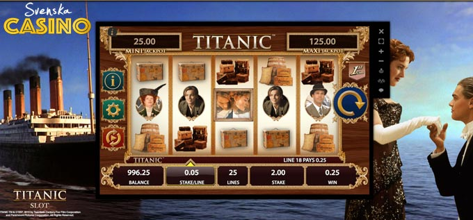 titanic spelautomat bally